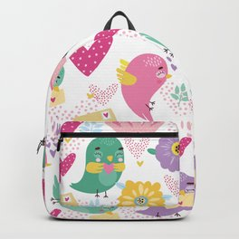 Cute Cartoon Birds Backpack