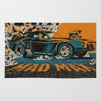 mad max Area & Throw Rugs featuring Mad Max by Francesco Dibattista