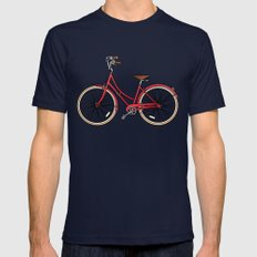 His Bicycle Mens Fitted Tee LARGE Navy