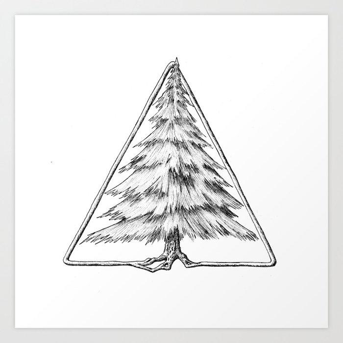 Tree in Triangle Art Print