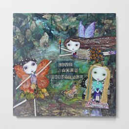 WOODLAND FAIRIES, Fairy Art Metal Print