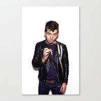 alex turner Canvas Prints featuring Alex Turner  by Trash Boat