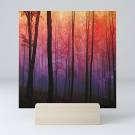 Whispering Woods, Colorful Landscape Art Mini Art Print