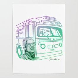 Rosa Parks, Courageous Woman Poster