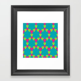 Triangles honeycombs and other shapes pattern Framed Art Print