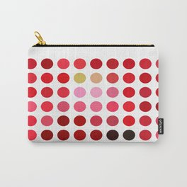 Mottled Red Poinsettia 2 Dots Carry-All Pouch