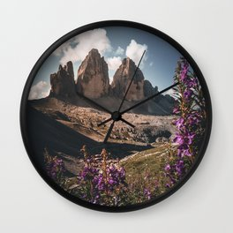 Tre Cime di Lavaredo during summer Wall Clock
