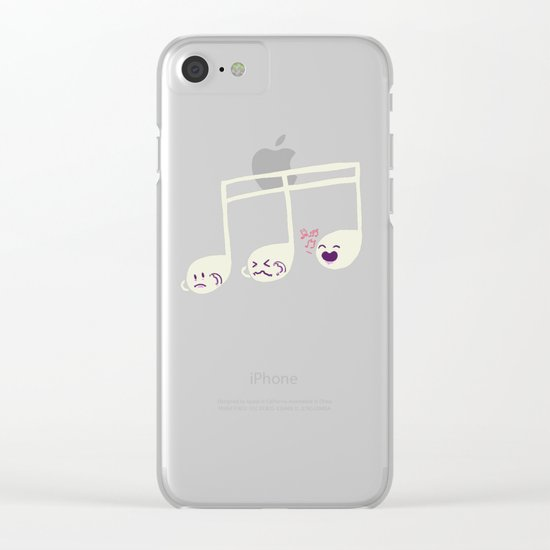 Sounds O.K. (off key) Clear iPhone Case