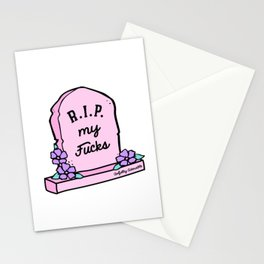 R.I.P. My Fucks Stationery Cards