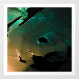 A mysterious glow Art Print
