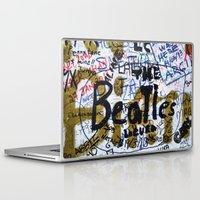 england Laptop & iPad Skins featuring england style by Sogol Khoubi