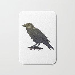 Crow Contemplation Bath Mat