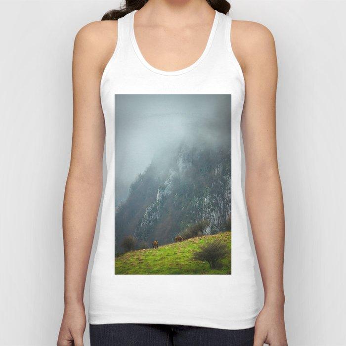 Mountains landscape Unisex Tank Top