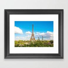 Cloud 9 - Eiffel Tower Framed Art Print