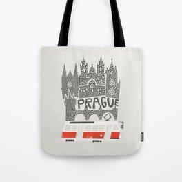 Prague Cityscape Tote Bag