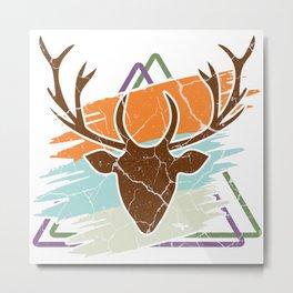 Deer Deer Fawn Wild Forest Gift Animal Metal Print