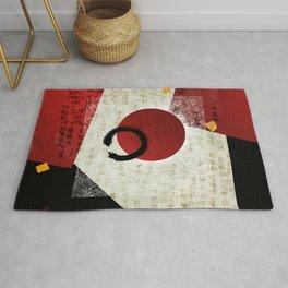 Zen Ensō Circle with Kanji Potential Rug