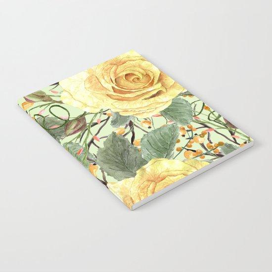 Watercolor Roses #3 Notebook