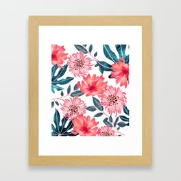 Yours Florally Framed Art Print