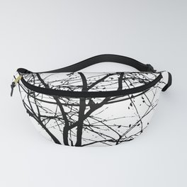 Leaves, Branches And Power Lines In The Fall Fanny Pack