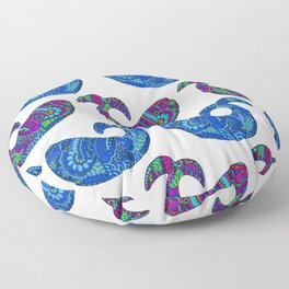 Colorful Whales Floor Pillow