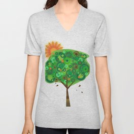 Be Like A Tree Unisex V-Neck
