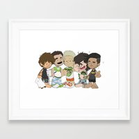 1d Framed Art Prints featuring Sleepy 1D by Ashley R. Guillory