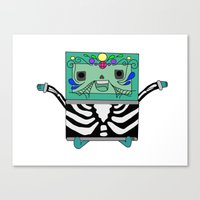 bmo Canvas Prints featuring BMO by Ilse Nonsense