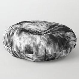 black and, whitewater Floor Pillow