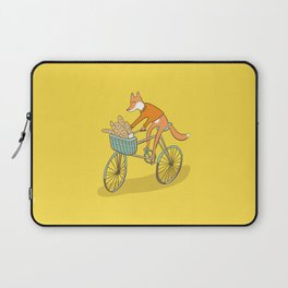 FOX ON BIKE Laptop Sleeve