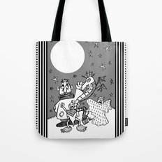 They Only Come Out At Night Tote Bag