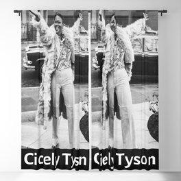 Vintage Retro Cicely Tyson Blackout Curtain