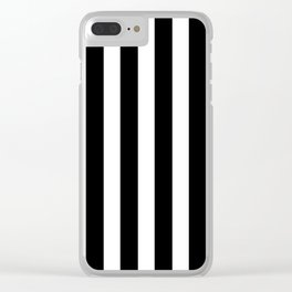 Classic Black and White Football / Soccer Referee Stripes Clear iPhone Case