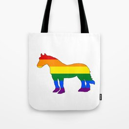 Rainbow Horse Tote Bag