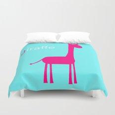 Pink Giraffe Duvet Cover