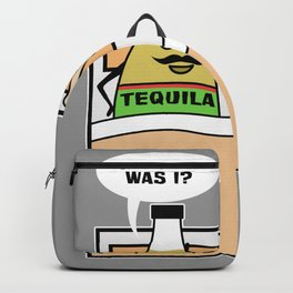 Tequila Alcohol Shot Morning Drink Backpack