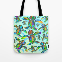Baby Sea Turtle Fabric Toy Tote Bag
