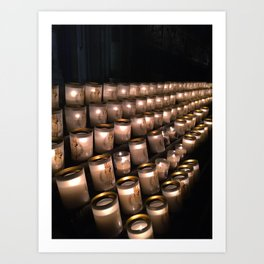 Notre Dame Candle Light Art Print
