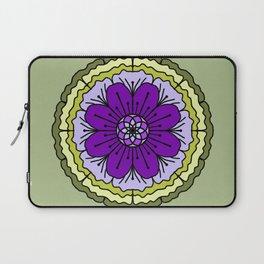 Mandala-purple and green Laptop Sleeve