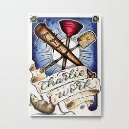 Charlie Work Metal Print