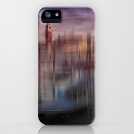 City-Art VENICE Gondolas at Sunset iPhone Case
