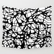 black curves Wall Tapestry