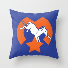 Denver Donkeys   Throw Pillow