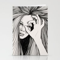 leo Stationery Cards featuring Leo by Hanna Viktorsson