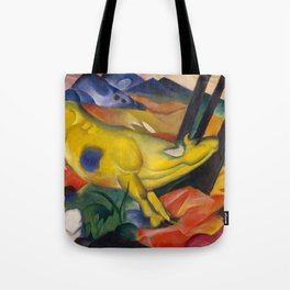 "Franz Marc ""Yellow cow"" Tote Bag"
