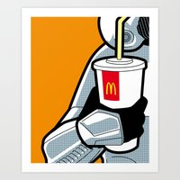 the secret life of heroes Art Prints featuring The secret life of heroes - StormDrink by Greg Guillemin