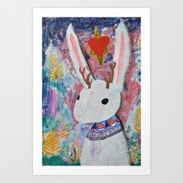 Mystic Jackalope Art Print