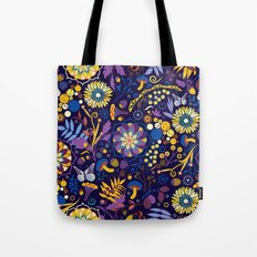 Ripe autumn – purple and yellow Tote Bag