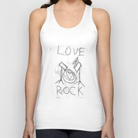 drums Tank Tops featuring Love Rock Drums by Louise Court