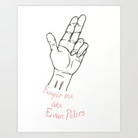 evan peters Art Prints featuring Like Evan Peters by Brittany Aureate